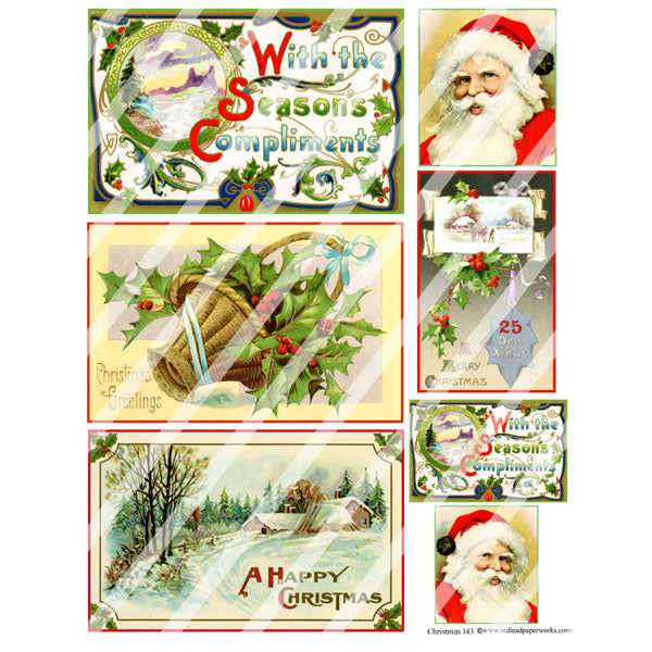 Christmas 143 Collage Sheet