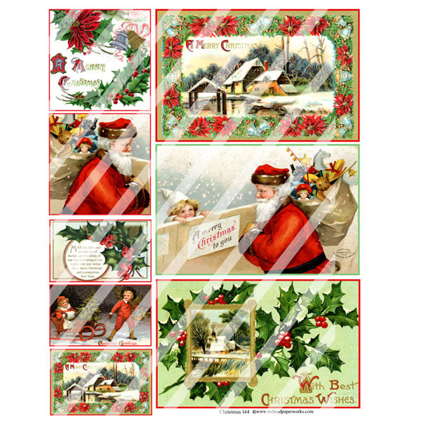 Christmas 144 Collage Sheet