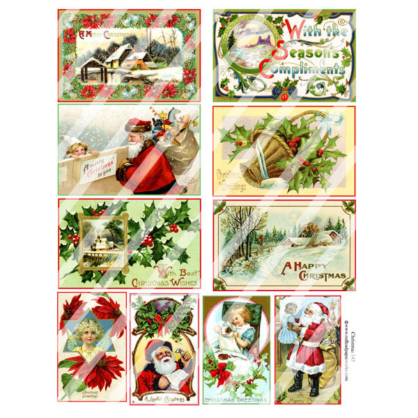 Christmas 145 Collage Sheet