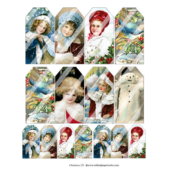 Christmas 153 Collage Sheet