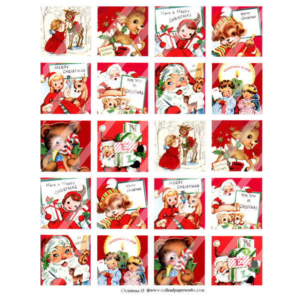 Christmas Collage Sheet 15