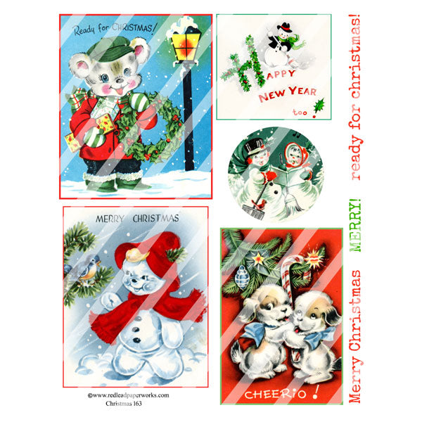 Christmas 163 Collage Sheet