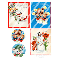 Christmas 164 Collage Sheet