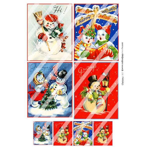 Christmas 165 Collage Sheet