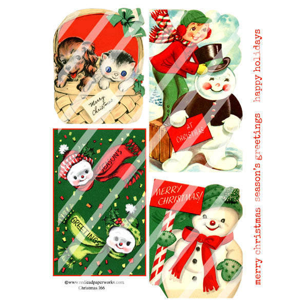 Christmas 166 Collage Sheet