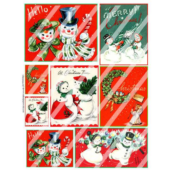 Christmas 167 Collage Sheet