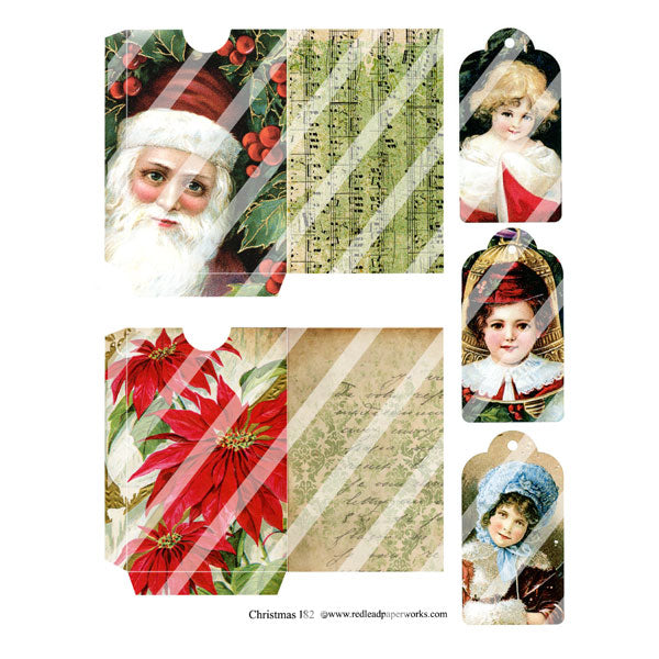 Christmas 182 Collage Sheet
