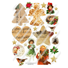 Christmas 183 Collage Sheet