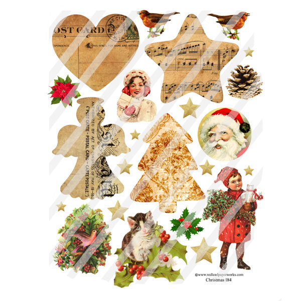 Christmas 184 Collage Sheet