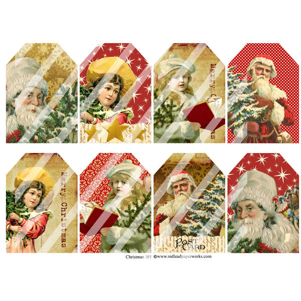 Christmas 185 Collage Sheet