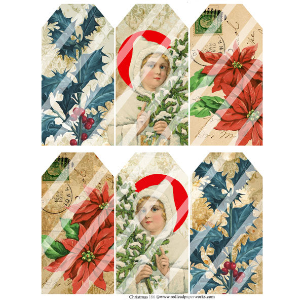 Christmas 186 Collage Sheets