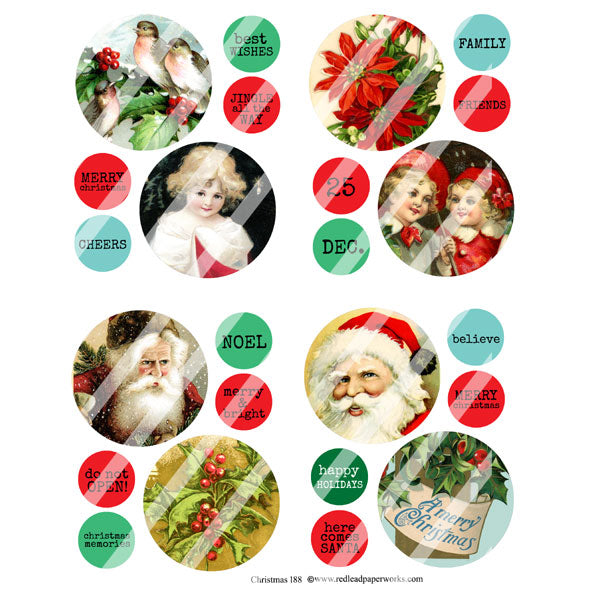 Christmas 188 Collage Sheet