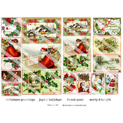 Christmas 196 Collage Sheet