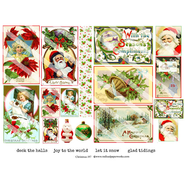 Christmas 197 Collage Sheet