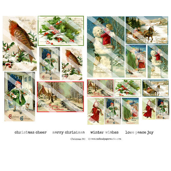 Christmas 199 Collage Sheet