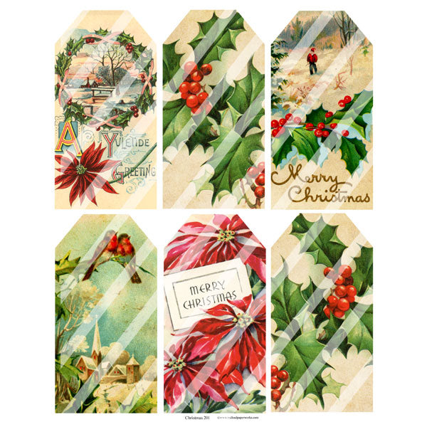 Christmas Tags Collage Sheet 201