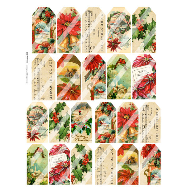 Christmas Tags Collage Sheet 202