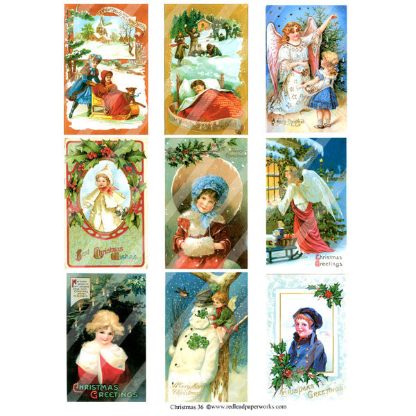 Christmas Collage Sheet 36