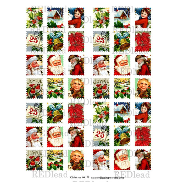 Christmas Collage Sheet 60  - Postage