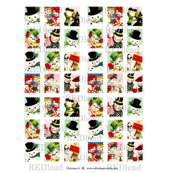 Christmas Collage Sheet  61 - Postage