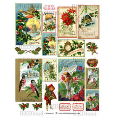 Christmas Collage Sheet #63