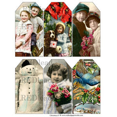 Christmas Collage Sheet 67 - Christmas Tags