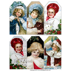 Christmas Collage Sheet - 68 Christmas Tags