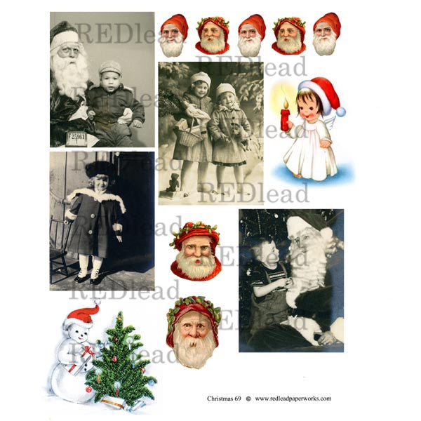Christmas Collage Sheet 69