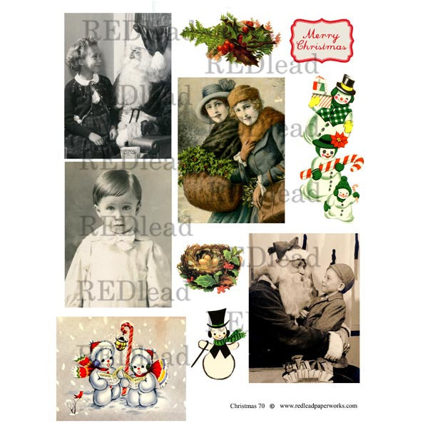 Christmas Collage Sheet 70