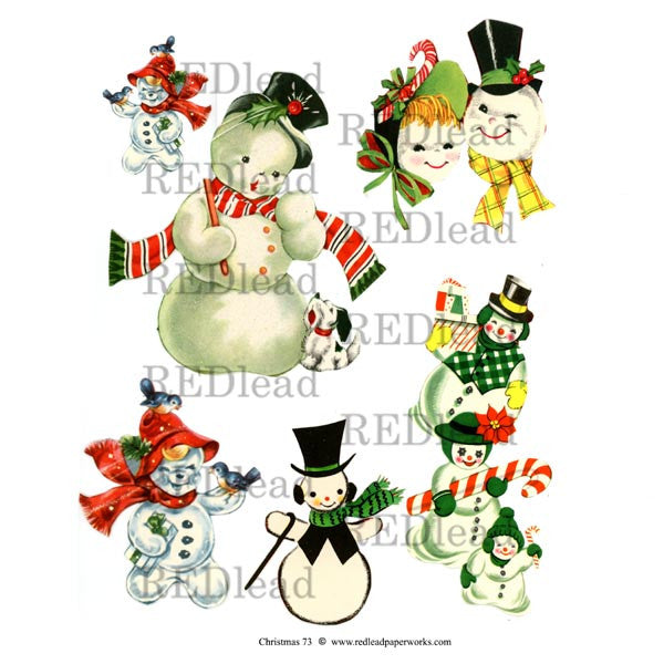 Christmas Collage Sheet 73