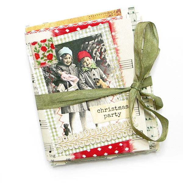 Christmas Party Handmade Junque Journal