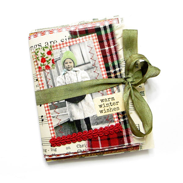 Warm Winter Wishes Handmade Junque Journal