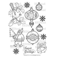 vintage christmas ornaments coloring pages
