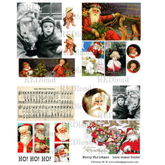 Christmas Collage Sheet 90