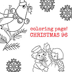 Vintage style Christmas coloring page.