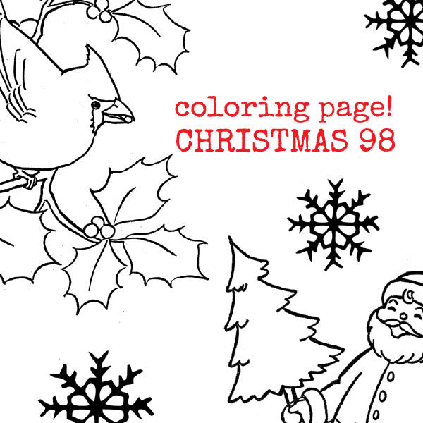 Christmas 98 Coloring Page Collage Sheet