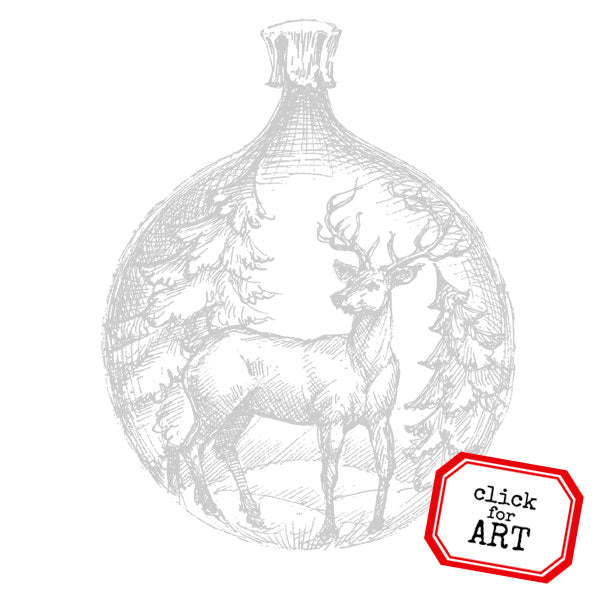 Christmas in the Forest Ornament Rubber Stamp Save 20%