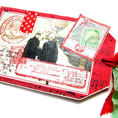 santa claus postage and post marked tag