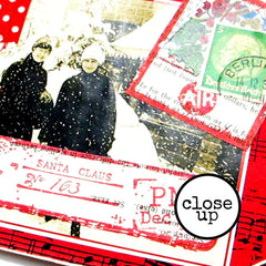 close up of rubber stamped Christmas Tag
