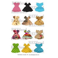 Collage Sheet Tiny Dresses 1 - Everyday Dresses