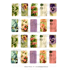 Domino Collage Sheet Flowers 5