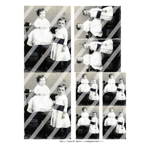 Vintage Photos Collage Sheet 64