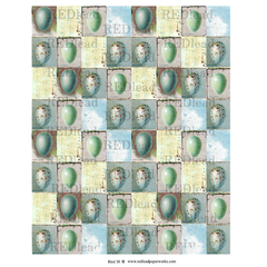beautiful bird egg collage paper