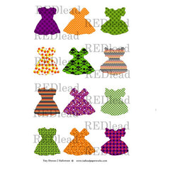 Collage Sheet Tiny Dresses 2 - Halloween