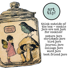 Large Cookie Jar Rubber Stamp