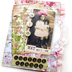 collage book page with vintage photos