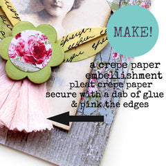 How to make a crepe paper embellishment