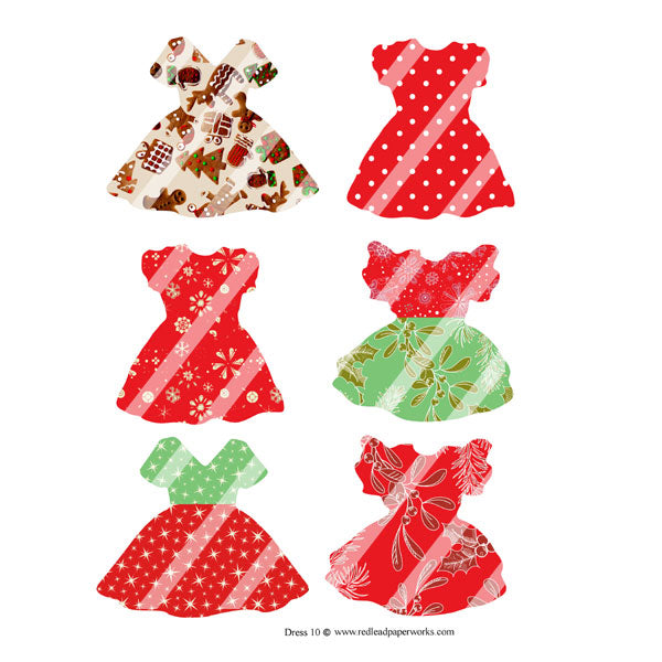 Christmas Dresses Collage Sheet 10