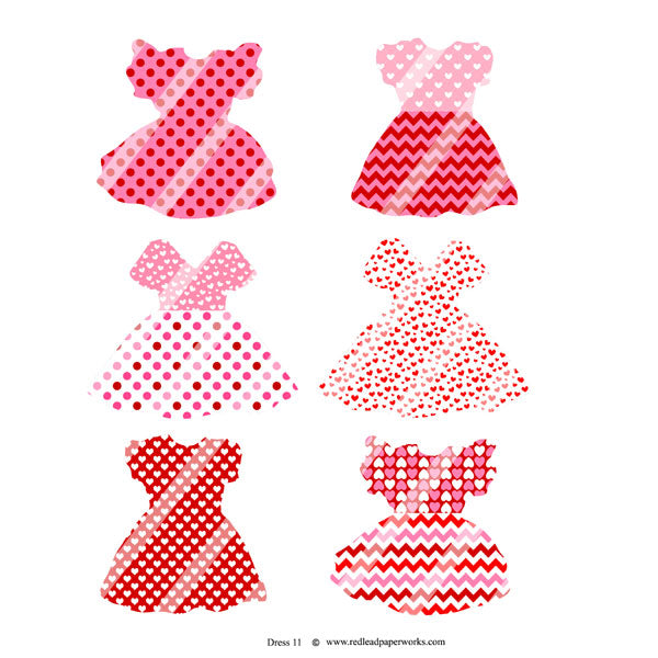 Valentine Dresses Dresses Collage Sheet 11