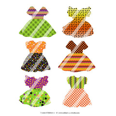 Halloween Dresses Collage Sheet 6